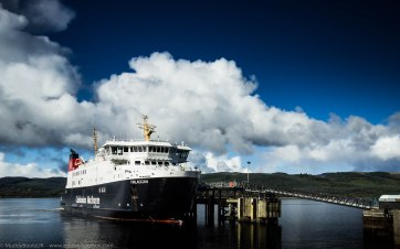 MV Finlaggan at Kennacraig Ferry terminal