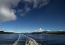 Leaving Kennacraig along Loch West Tarbert