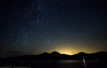 The sky above the Paps of Jura