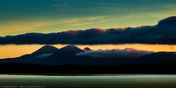 Sunrise on the Paps of Jura