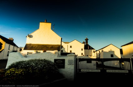 The Bowmore distillery entrance
