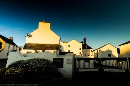 The Bowmore distillery entrance