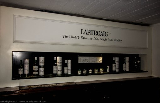 The Laphroaig shop interior