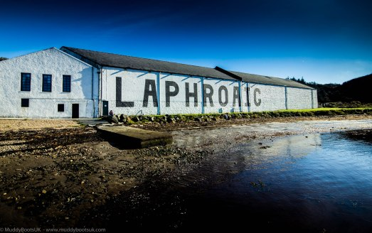 Warehouses overlooking Loch Laphroaig