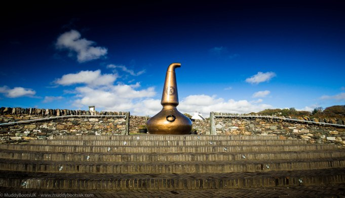 Old copper still, adjacent to the car park. A high alter to the distillers art.