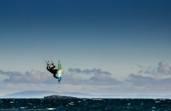 Kite surfing on Islay