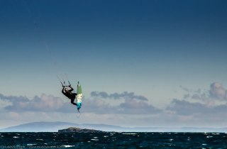 Kite surfing on Islay