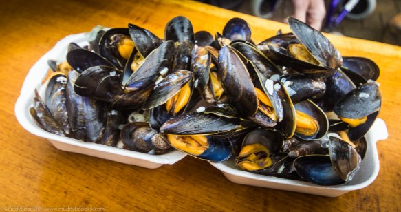 Mussels in garlic and wine