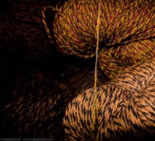 The spun yarn