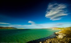 Driving along the shore of Luskentyre