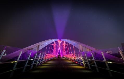 Millennium Bridge at Salford Quays